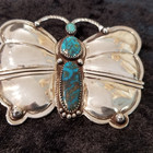Red Mtn. Turquoise Butterfly pin