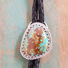 Hachita Turquoise Bolo Tie close-up view