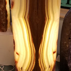 Banded onyx floor lamp sq. closed top