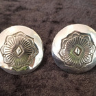 Clip-on Sterling Silver concho earrings
