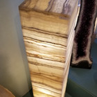 Banded onyx tower floor lamp sq.