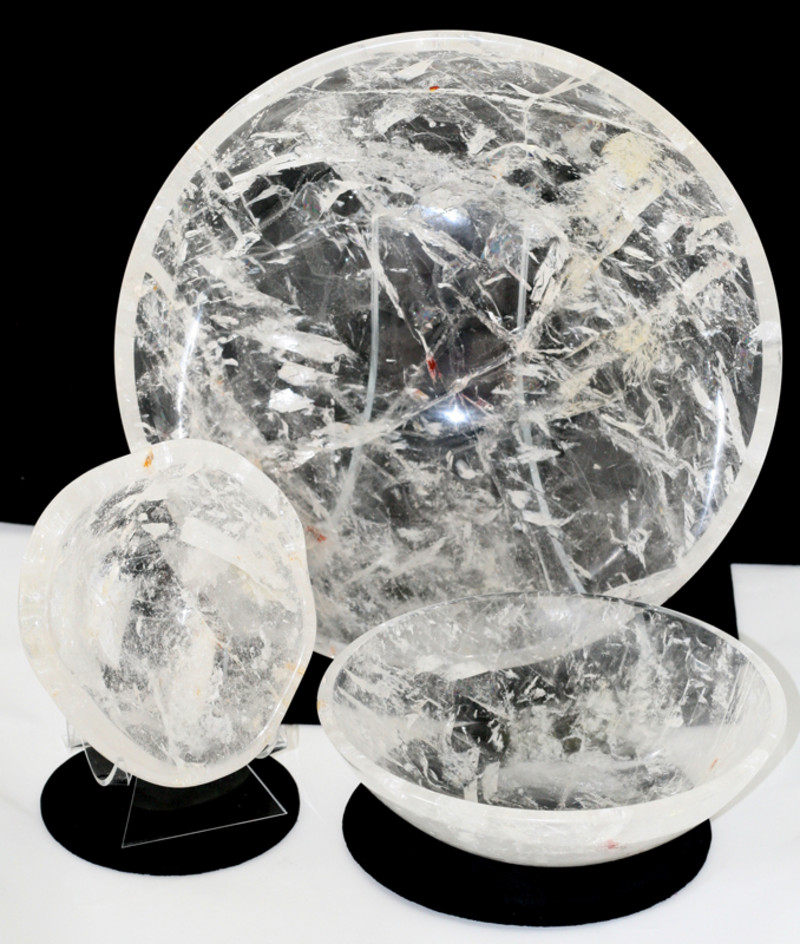 Home Décor   La Tierra Mineral Gallery   Taos, New Mexico Quartz Crystal Bowls