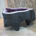 Amethyst Table Base - side view