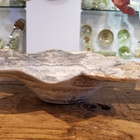 Alligator onyx dish from stalagtite / side view