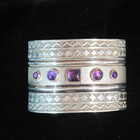 Bracelet silver with amethyst
