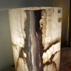 White and Grey Onyx Lamp