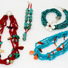 Turquoise & Coral Necklaces