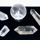 Clear Quartz Points & Spheres